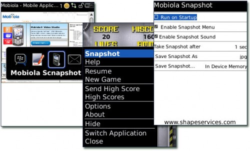 Review:  Mobiola Snapshot for BlackBerry