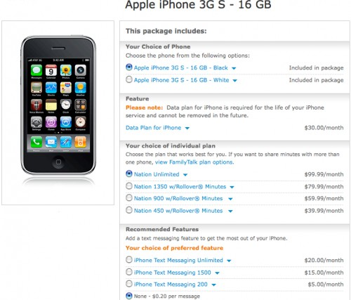 Apple iPhone 3G S - 16 GB Cell Phone Package - | Wireless from AT&T, formerly Cingular-3