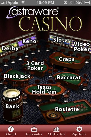 Review:  Astraware Casino for iPhone/iPod Touch