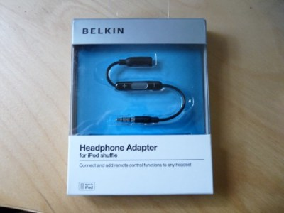 Belkin Headphone Adapter for iPod Shuffle  Belkin Headphone Adapter for iPod Shuffle