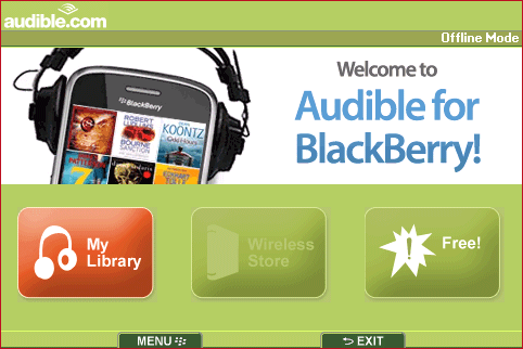 GearDiary Audible BlackBerry App Review
