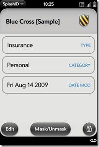 Palm Pre App Catalog. 30 Apps in 30 Days. Day 17: SplashID  Palm Pre App Catalog. 30 Apps in 30 Days. Day 17: SplashID