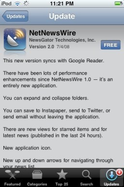 NetNewsWire With Google Reader Sync Now Available