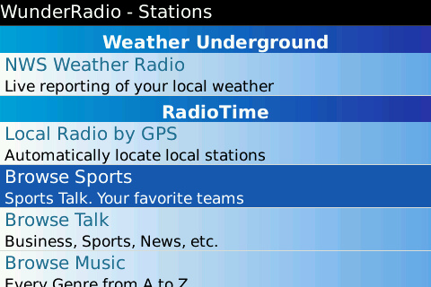 Wunder Radio for BlackBerry is released  Wunder Radio for BlackBerry is released