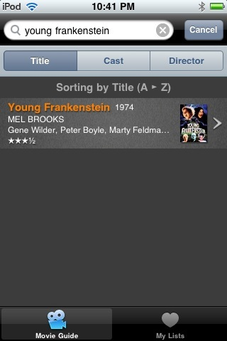 The Leonard Maltin Movie Guide iPhone App Review  The Leonard Maltin Movie Guide iPhone App Review  The Leonard Maltin Movie Guide iPhone App Review