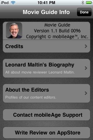The Leonard Maltin Movie Guide iPhone App Review  The Leonard Maltin Movie Guide iPhone App Review