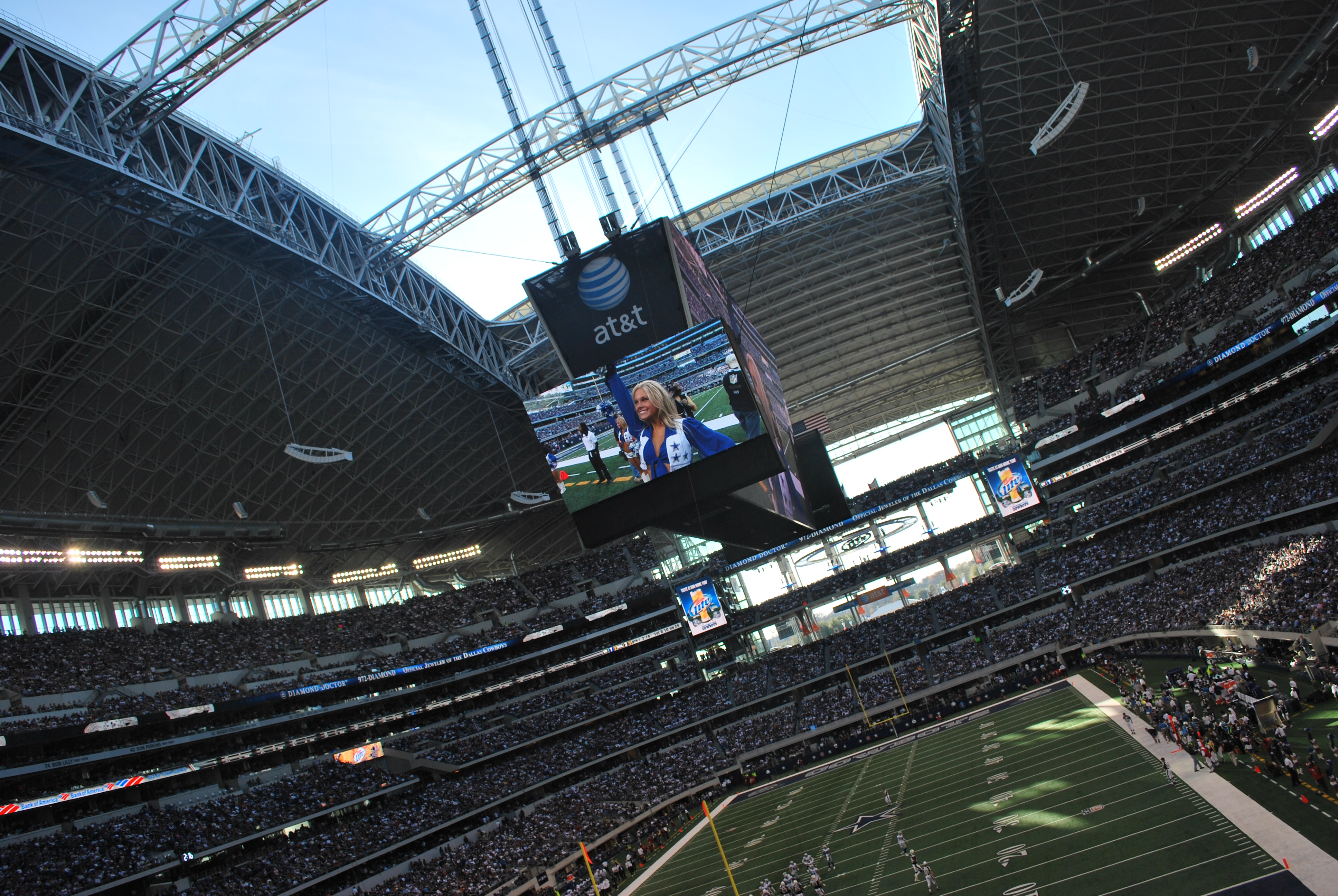 The Dallas Cowboys Stadium Video Board Gimme Some High