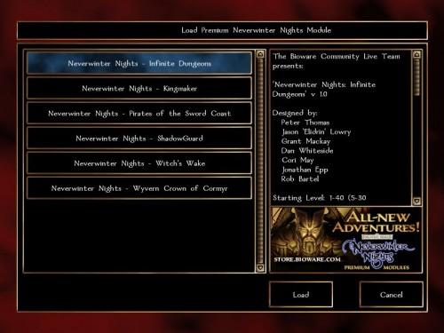 Neverwinter Nights Premium Modules PC Game Module Reviews: