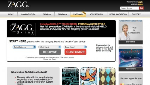 Customized ZAGGskins for Mobile Devices Review