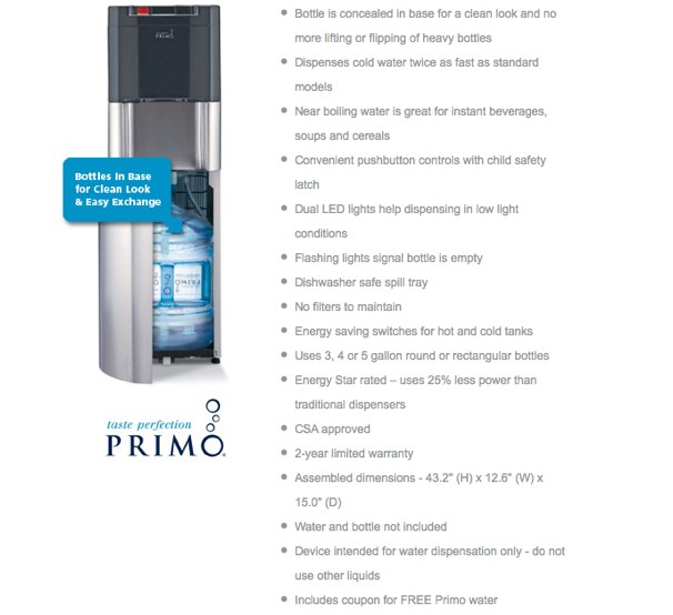primo bottom loading water dispenser review - Primo Water Cooler