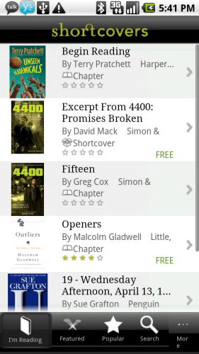 eBook Reading Options for Android