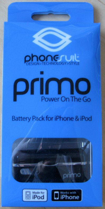 "PhoneSuit Primo ""Made For iPod, Works w/iPhone"" Battery Review"