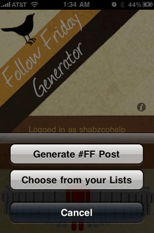 Follow Friday App for iPhone