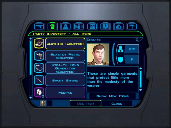 The Netbook Gamer: Star Wars Knights of the Old Republic (2003, RPG)