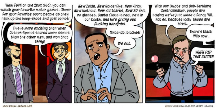 Penny Arcade Sums Up E3 In Three Panels  Penny Arcade Sums Up E3 In Three Panels