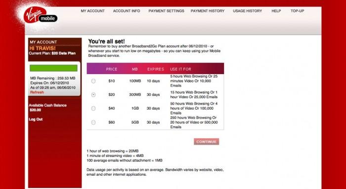 Virgin Mobile Broadband2Go Wireless USB Modem Review