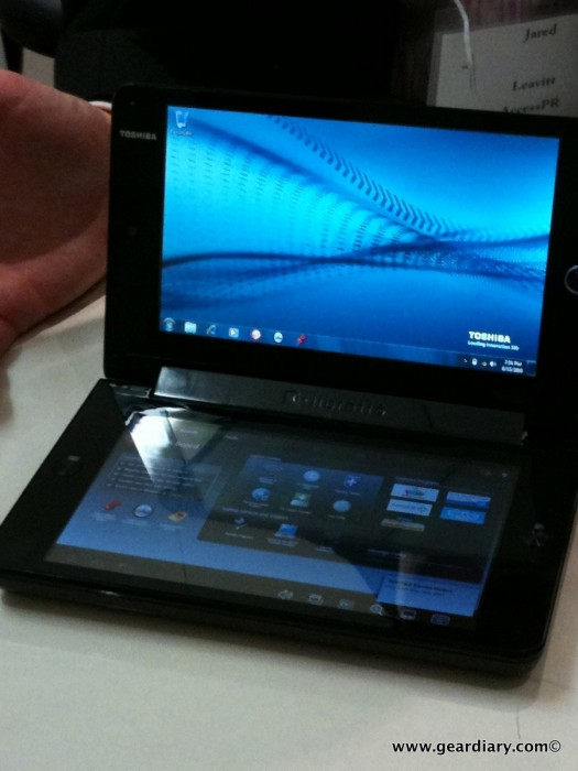 GearDiary Toshiba's New Dual-Touch & Dual Screen libretto W100 Concept PC May Help You Forget the Microsoft Courier