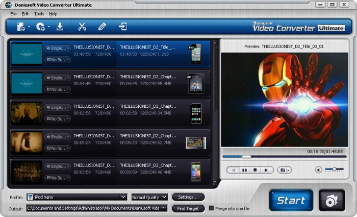 Review:  Daniusoft Media Converter Ultimate Converter and Ripper