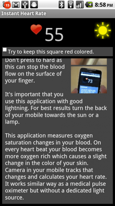 Android App Review: Instant Heart Rate