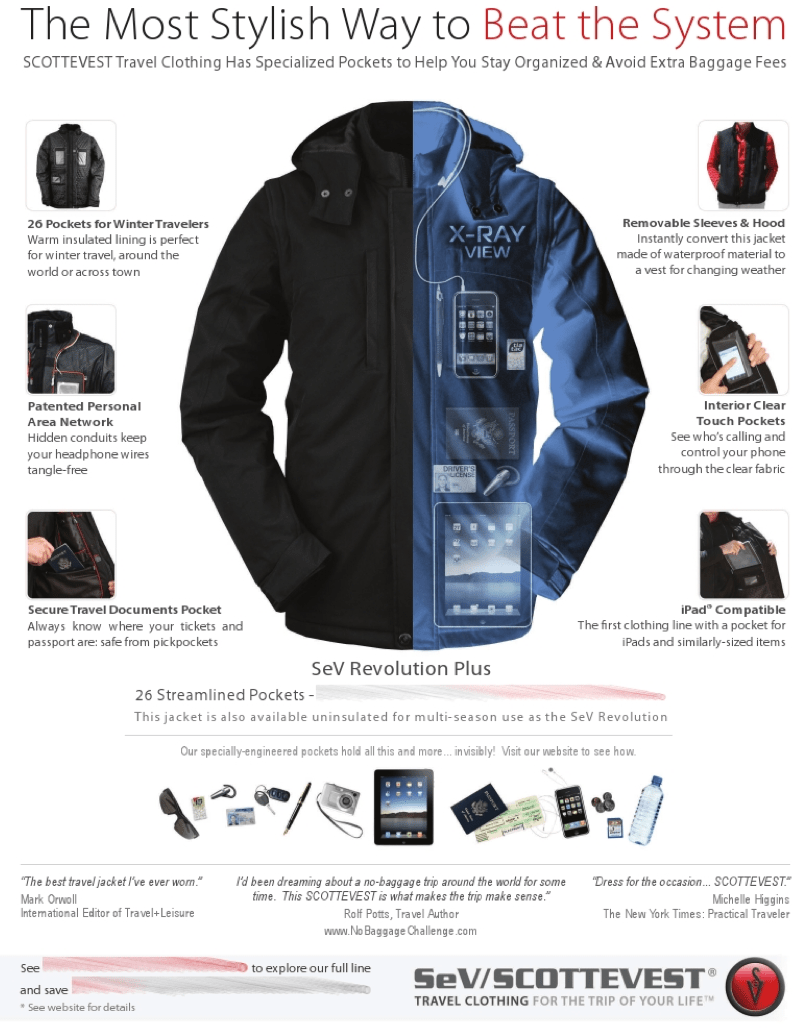 "Delta to SCOTTEVEST- ""Sorry but Carry-On Revenue > Ad Revenue in Delta Sky Magazine"""