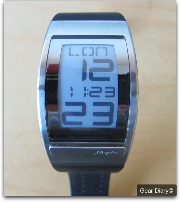 Gear Gadget Review- The PHOSPHOR World Time Curved E Ink Watch with Black Polyurethane Band