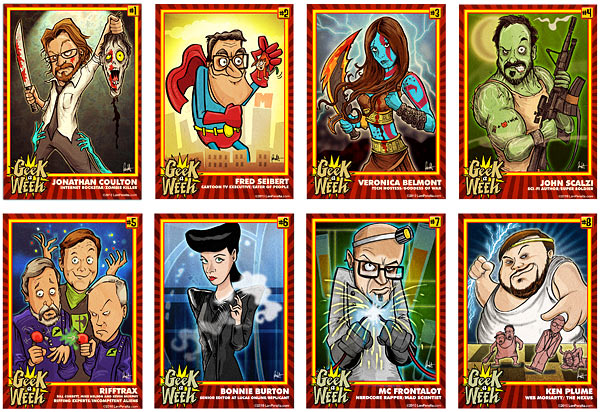 "Your Favorite Geek May Be a ""Geeks of the Week"" Trading Card"