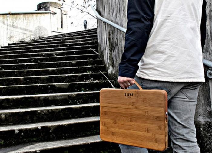 Cool MacBook Accessories: Silva Bamboo MacBook Case