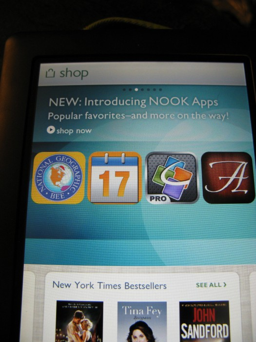 B&N NOOKcolor Software Update and App Store Review