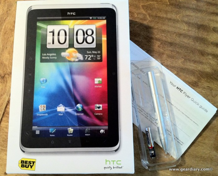 The HTC Flyer Arrives ...