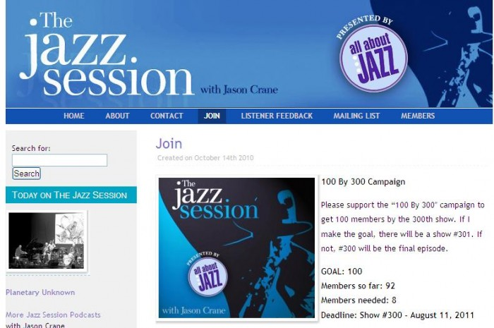 Music Diary Notes: The Jazz Session - Final Plea for Subscribers!