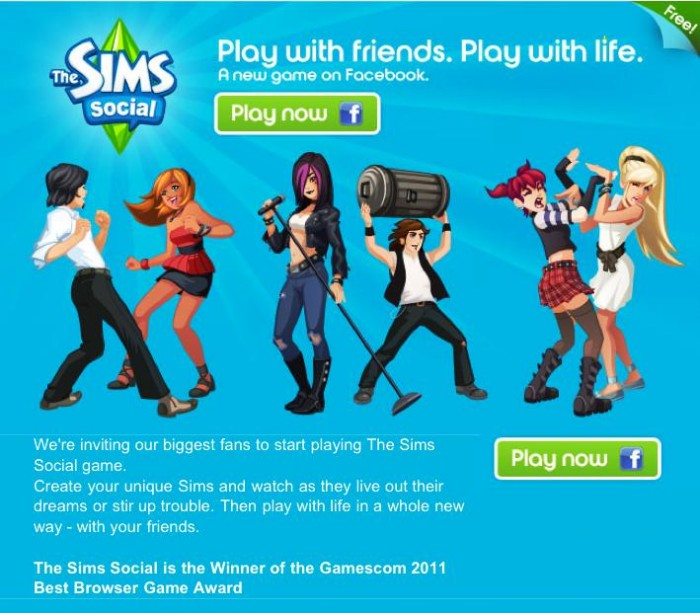 Gear Games News: EA Launches 'The Sims Social' on Facebook!