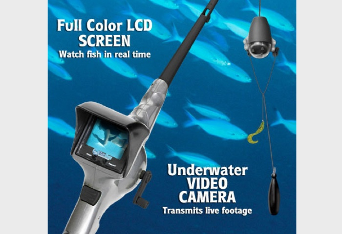 Seeing Greater Things for New FishEyes Smarter Rod and Reel with Underwater Video Camera