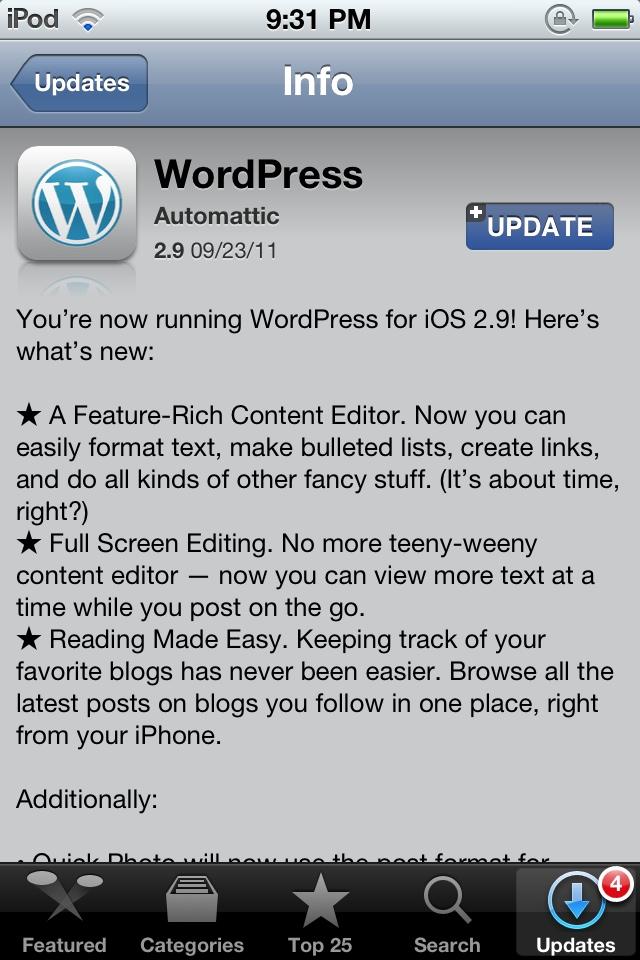 GearDiary WordPress iOS Blogging App Updated: Finally iOS Blogging Works?