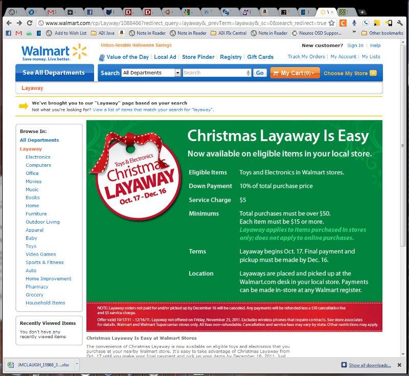 The Return of Layaway?