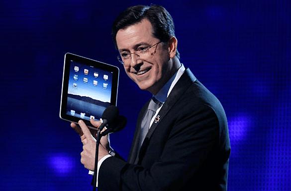 Random Cool Video: Stephen Colbert Drops the Schtick in Jobs Tribute
