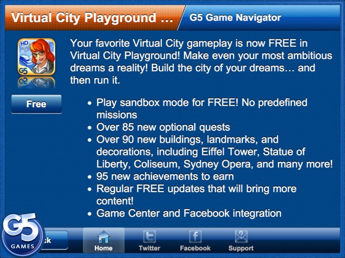 iPad/iPhone App Review: G5 Games Navigator