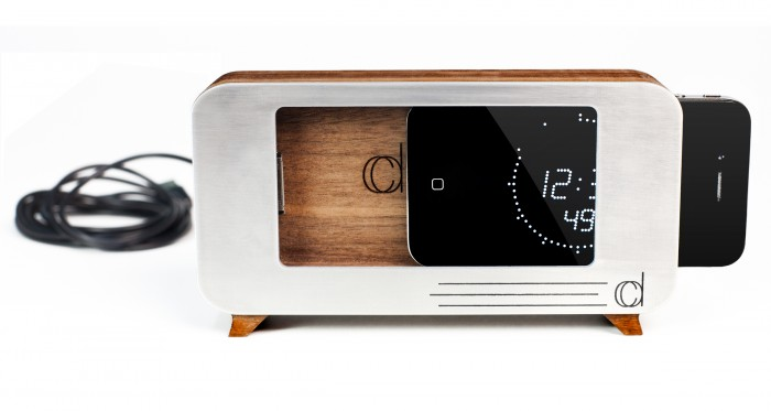 Cdock Turns Your iPhone into a Fab Table or Bedside Clock