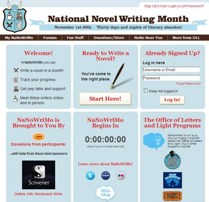 NaNoWriMo - Get on Board and Write That Novel in 30 Days!