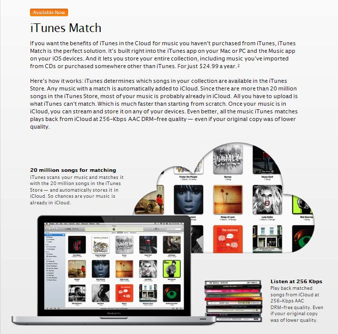 Apple Releases 'iTunes Match' to the Public - Your Music Library in the Cloud!