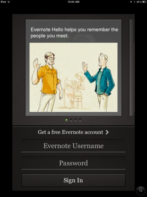 Evernote Hello? Uhm, No.