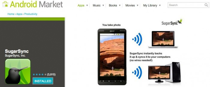 SugarSync Update Helps Add to Android App Market Confusion  SugarSync Update Helps Add to Android App Market Confusion