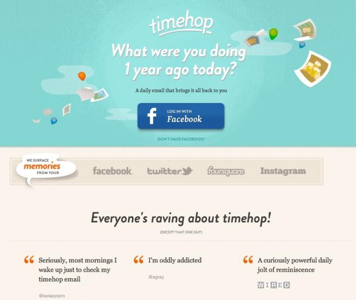 TimeHop Rewinds Your Social Networking Calendar