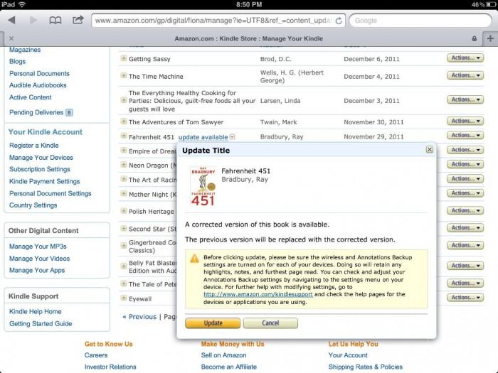 GearDiary Amazon Makes Good On Ray Bradbury's Fahrenheit 451