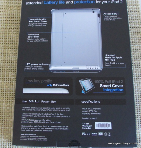 MiLi Power iBox 8000mAh Battery Charger Case for iPad 2 review  MiLi Power iBox 8000mAh Battery Charger Case for iPad 2 review