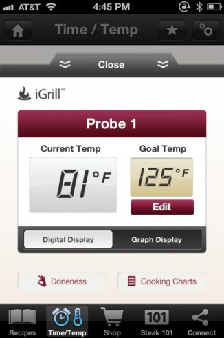 iGrill + Omaha Steaks' Steak Time App = Meat Magic