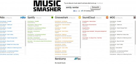 Music Smasher Searches Across Streaming Music Services