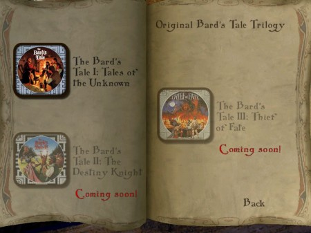 The Bard's Tale for iPad Adds Classic Bard's Tale from 1985!  The Bard's Tale for iPad Adds Classic Bard's Tale from 1985!  The Bard's Tale for iPad Adds Classic Bard's Tale from 1985!