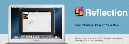 Reflection app  AirPlay Mirroring to your Mac