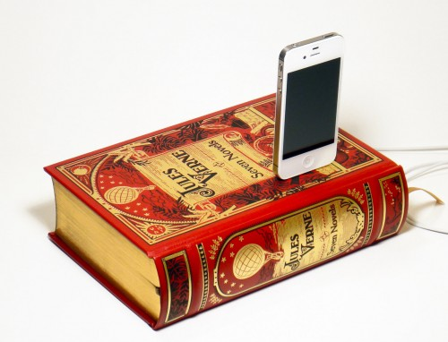 Gnome Canterwick Beautifully Repurposes Leather-Bound Classics as iPhone Charger Docks