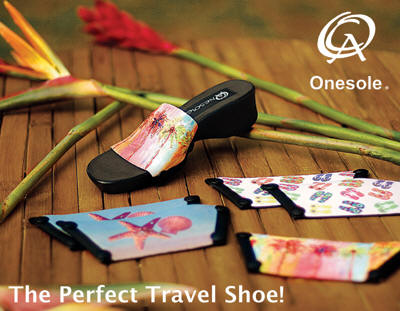 Quick Change Artist OneSole Shoes Allow You to Pack One Sole, Yet Bring Many Pairs of Shoes